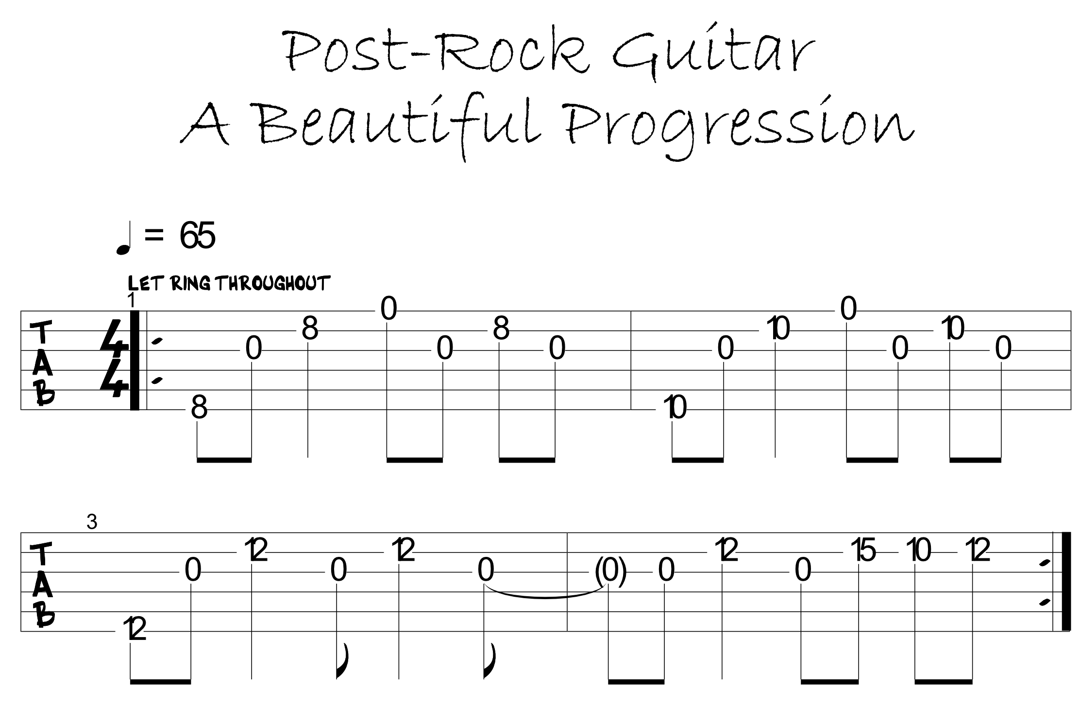 The beauty of Post-Rock guitar